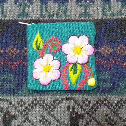 Coin Purse  Andean Floral Design