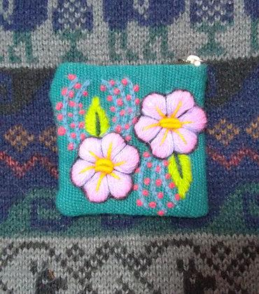 Coin Purse  Andean Floral Design