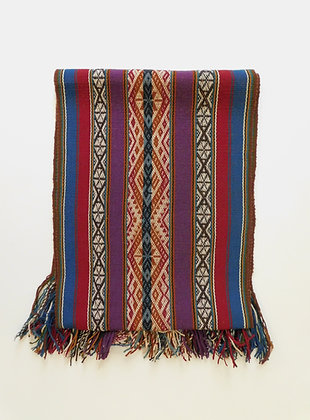 Textile Table Runner/Shawl - Master Weaver Piece from Andes - Organic - Handmade