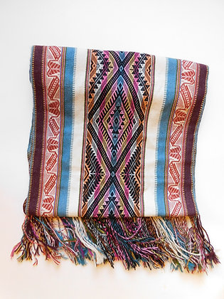 Master Weaver Textile Table Runner/Shawl from Andes - Organic - Handmade