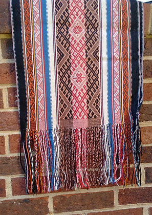 Textile Table Runner/Shawl - Andean Textiles - Handmade by Quechua Natives