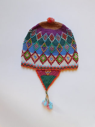 """""""Chullos"""" - Andean Textile Hats &; Beanies-Adults"""