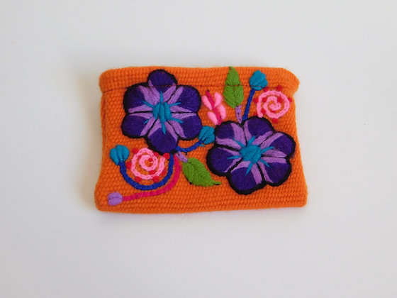 Coin Purse - Andean Floral Design