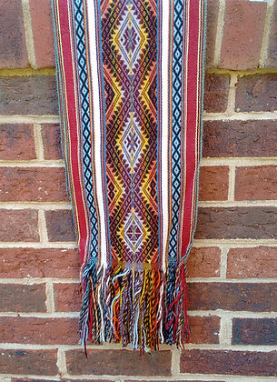 Textile Scarf - Andean Textiles made by Quechua Natives from Peru - Alpa