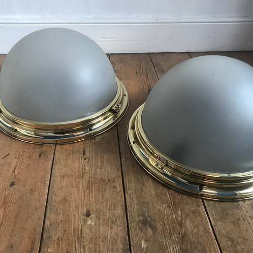 1920's Brass Ceiling Lights