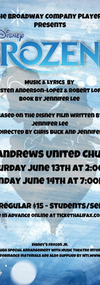 Frozen Jr. June 2020 (cancelled due to covid-19)