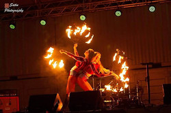 Fiery flames take the stage!