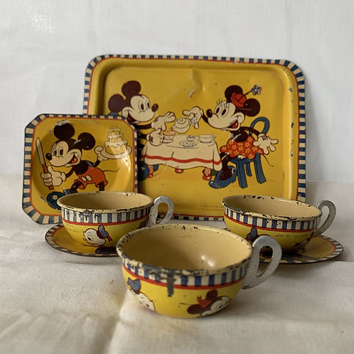 1930s Disney Tin Tea Set