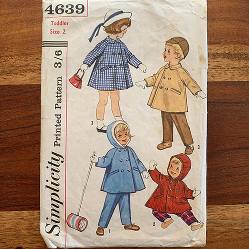 Vintage coat and trousers pattern