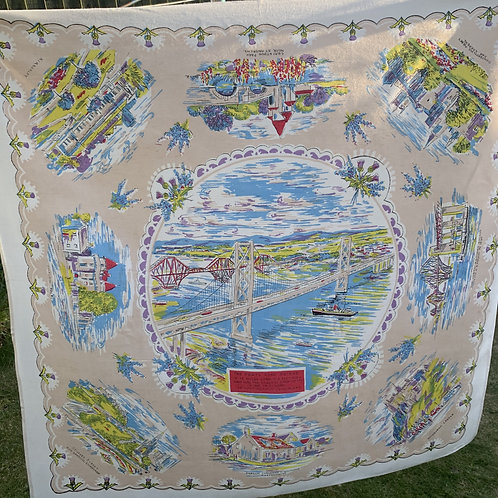 Souvenir Tablecloth - Scottish Scenes