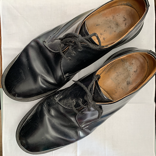 Black Leather Solovair shoes size 14