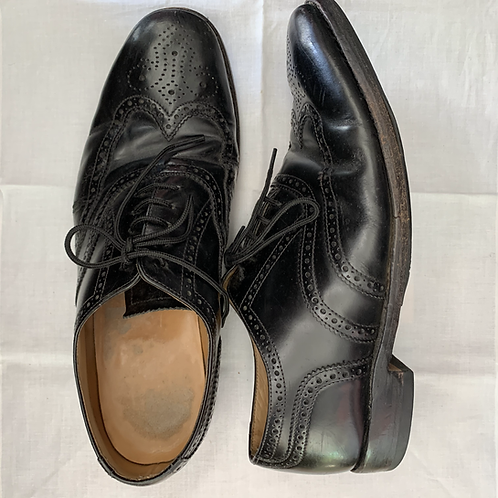LOAKES 202B Black Brogues size 9