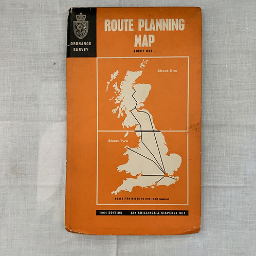 Ordnance Survey Route Planning Map