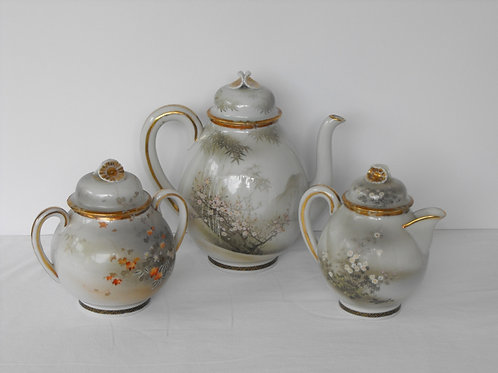 Tea Set Japanese Eggshell Porcelain