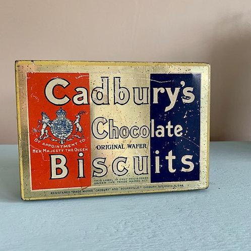 Vintage Cadbury's Chocolate Biscuits Tin