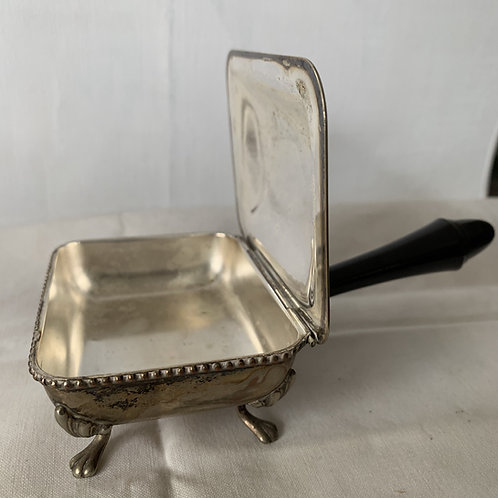 Silver plate footed silent butler