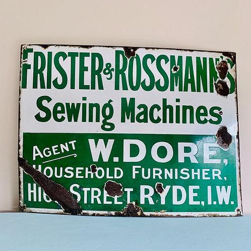 Original enamel advertising sign