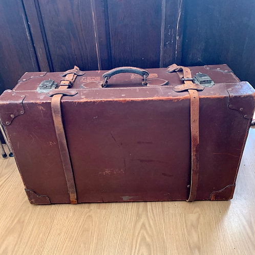 Vintage Leather Travelling Trunk