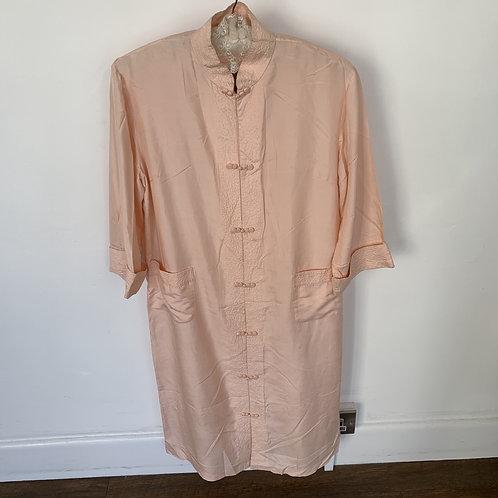 Vintage Pink Silk Kimono/Dressing Gown