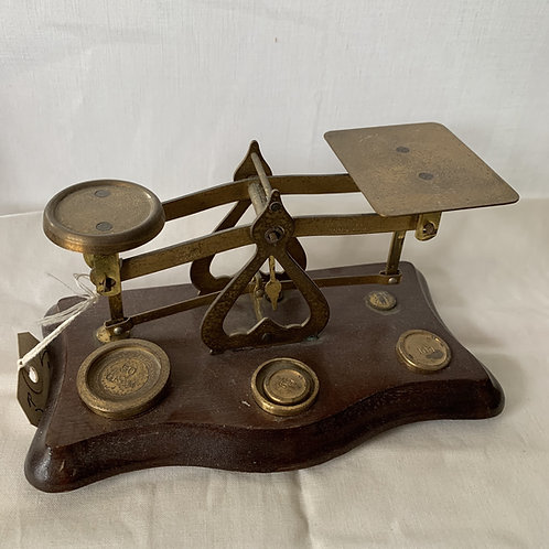 Vintage Post Office Letter Scales With Wieghts