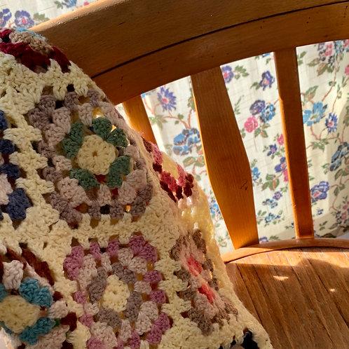 Vintage small crochet blanket