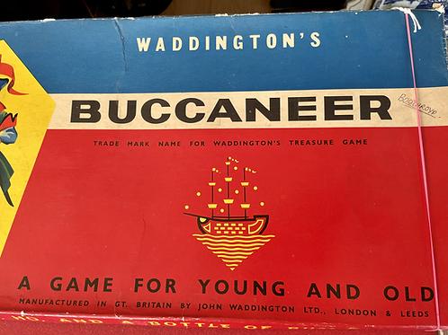 Vintage buccaneer board game 1958