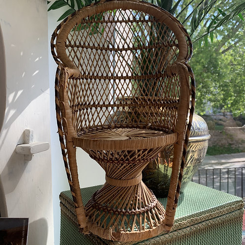 1970s Rattan & Cane- Plant/Doll Chair