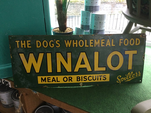 "1940's ""WINALOT"" sign"