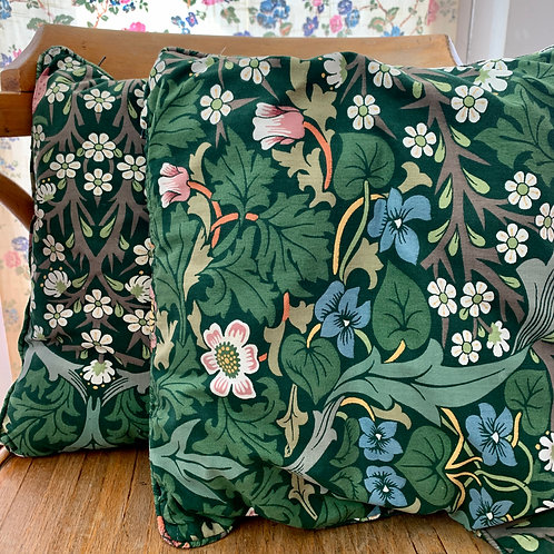 Pair of Small Sanderson's Floral Print Cushions