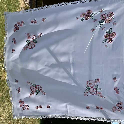 Vintage EmbroideredTable Cloth