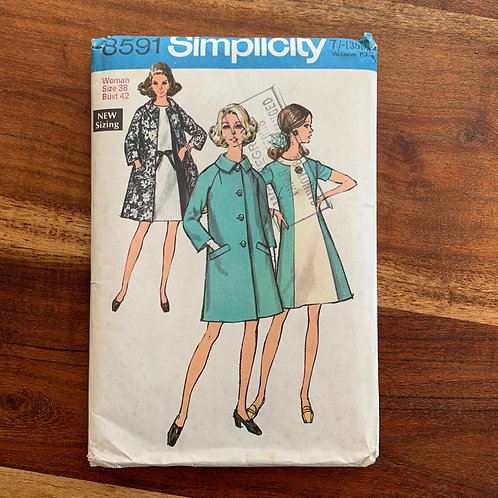 1960s Simplicity dress & coat pattern
