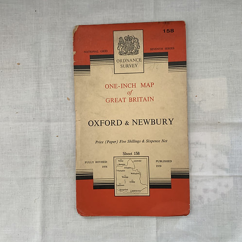Ordnance Survey 1959 OXFORD & NEWBURY