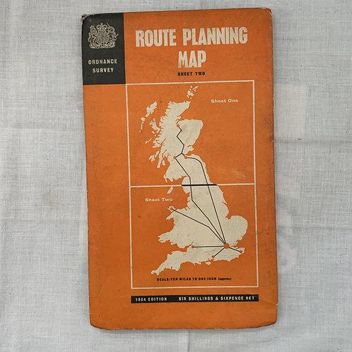 Ordnance Survey Route Planning map