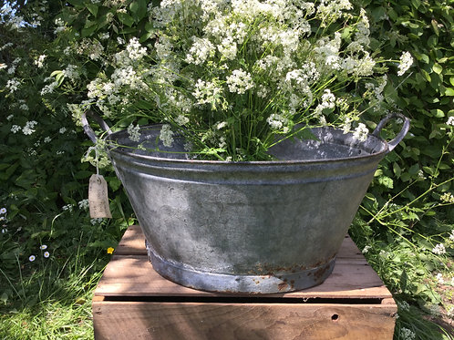Vintage Galvanised Steel Bath