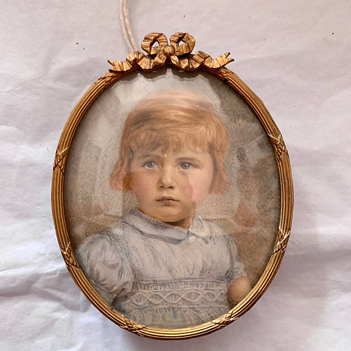Antique 1900s Miniature of a girl
