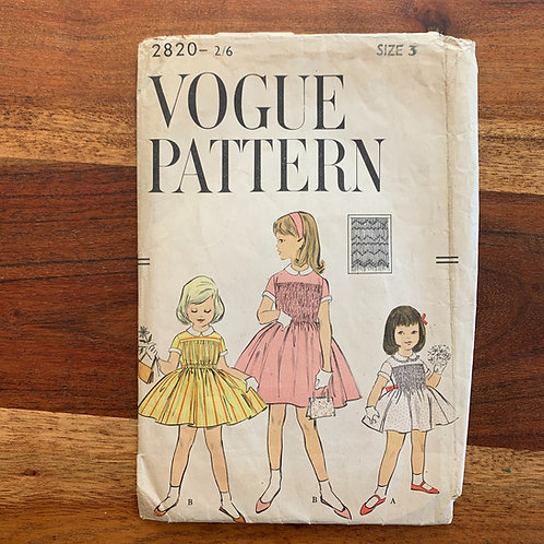 1950s/60s VOGUE Girls dress pattern