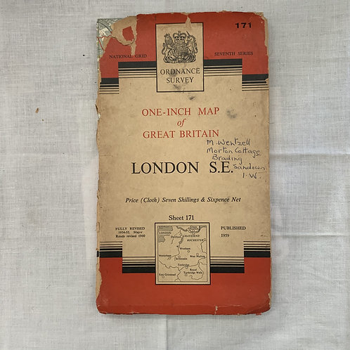 LONDON S.E. ordnance survey 1960