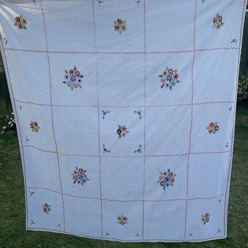 Floral Vintage Tablecloth