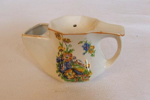 Octaganal Floral Vintage Shaving Mug