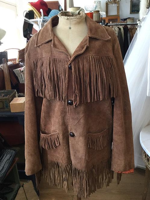 Vintage fringed suede jacket.