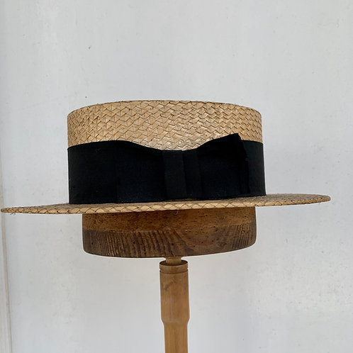 Antique Straw Boater