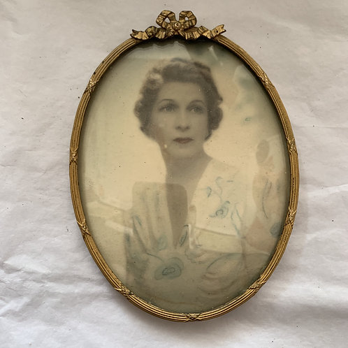 1930s Framed Miniature of a Lady