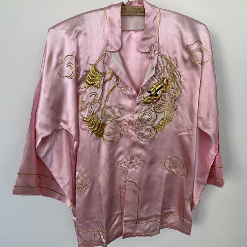 Vintage Embroidered Satin Pyjamas