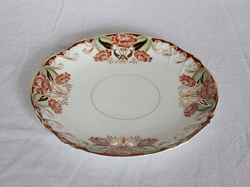 19th Century Floral Serving Plate 1 of 2