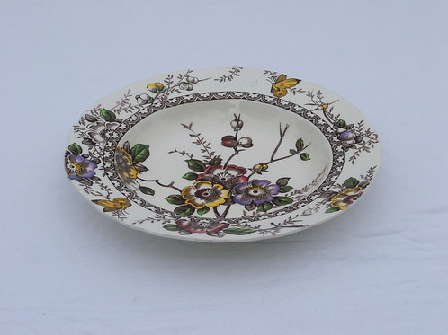 "Alfred Meakin Medway Decor 9"" Rimmed Soup Bowl"