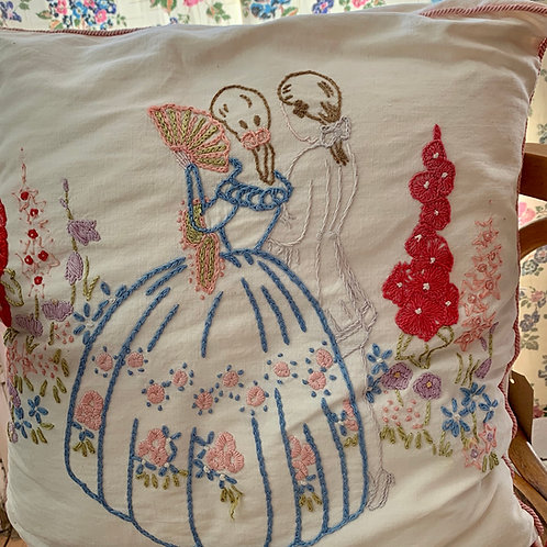 Lady & Suitor Cushion
