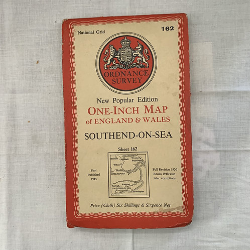 Ordnance Survey 1950s Southend onSea