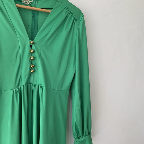 1960s Green Maxi Dress size 16