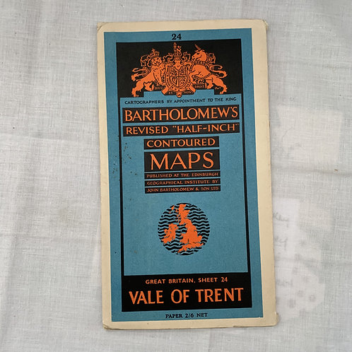 Bartholomew's half inch Vale of Trent