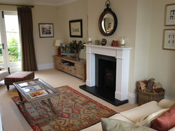 KIRK HOUSE, Knockroon Sitting Room Mantel Piece + Woodburner